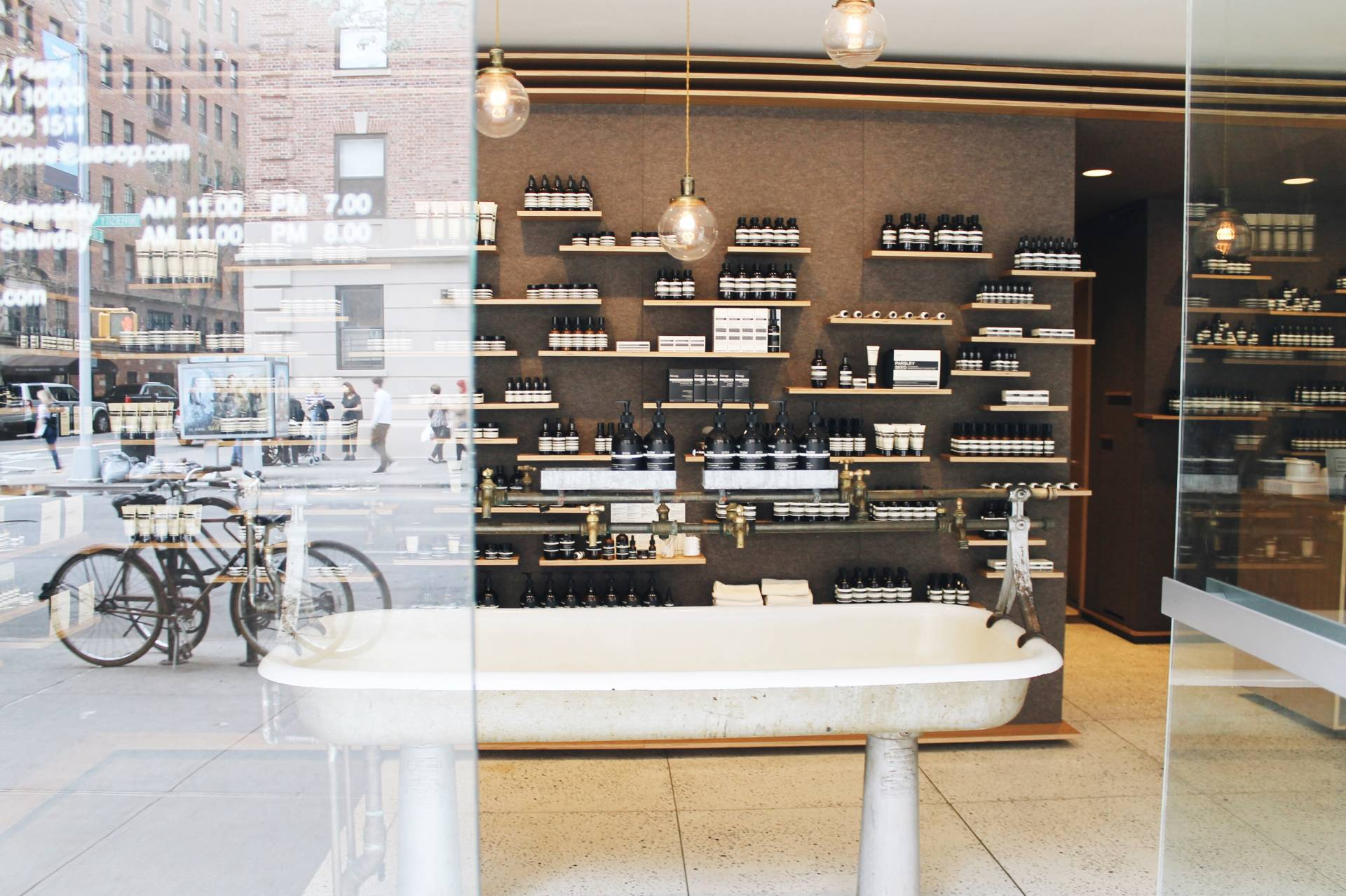 Inside Aesop Store NYC University Place