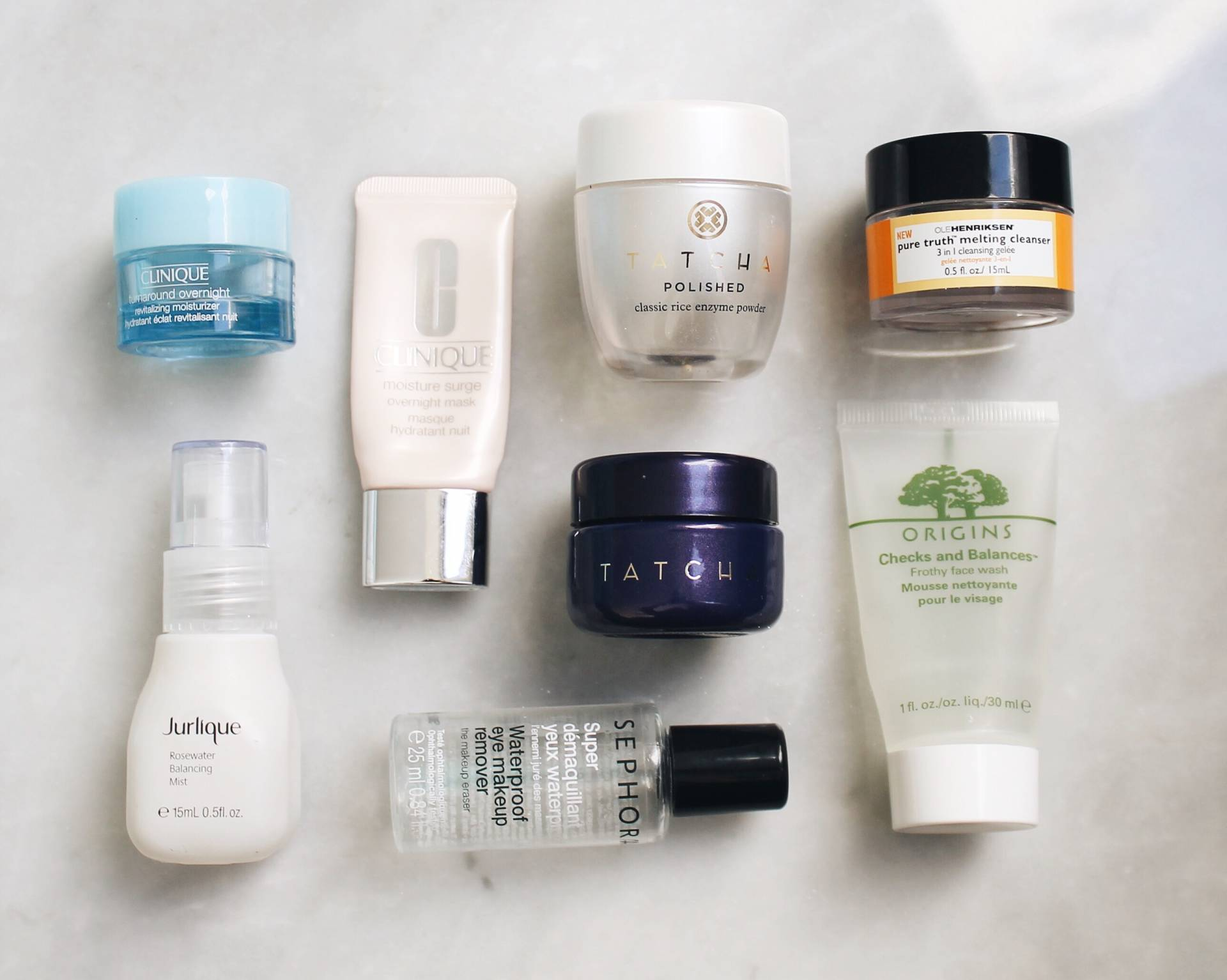 Products I've Finished: Empties tatcha, origins, ole henriksen, clinique, jurlique, sephora