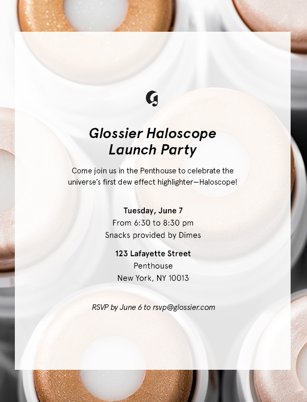 Glossier Haloscope Launch Party - Glossier Penthouse, Glossier Highlighter, Haloscope, Glossier Penthouse, Glossier Party, Glossier Slackpack