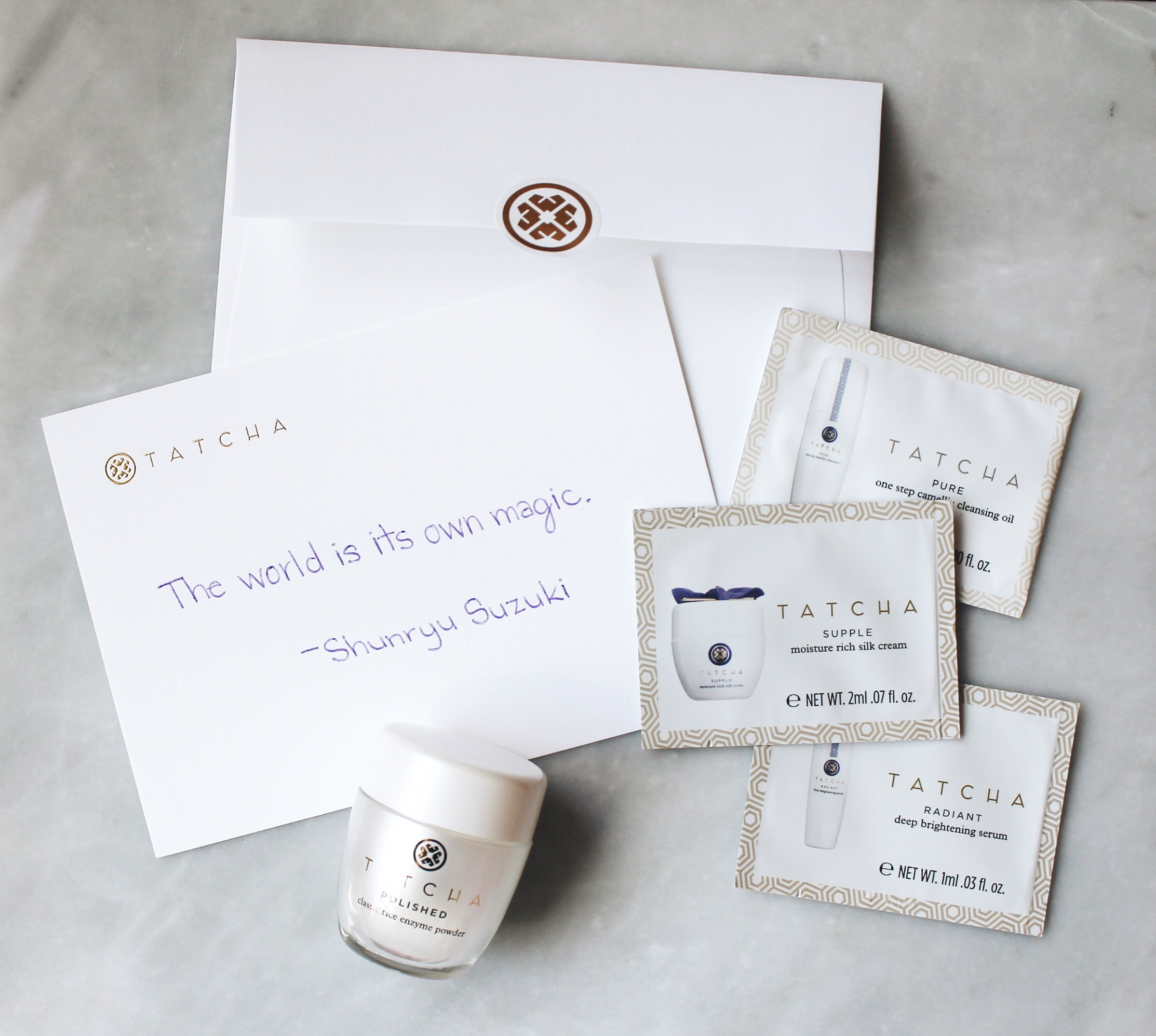 Unboxing My Order From Tatcha, Tatcha Dewy Skin Mist, Tatcha Rice Enzyme Powder, Tatcha Order, Tatcha Beauty, Sephora, Order Unboxing, Tatcha Letter, Tatcha Package, Tatcha Samples, Tatcha Sample Packettes, Tatcha Sample Packets