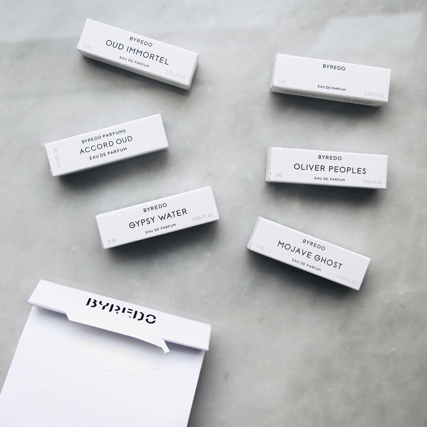 Byredo Gift Bag, Byredo Samples