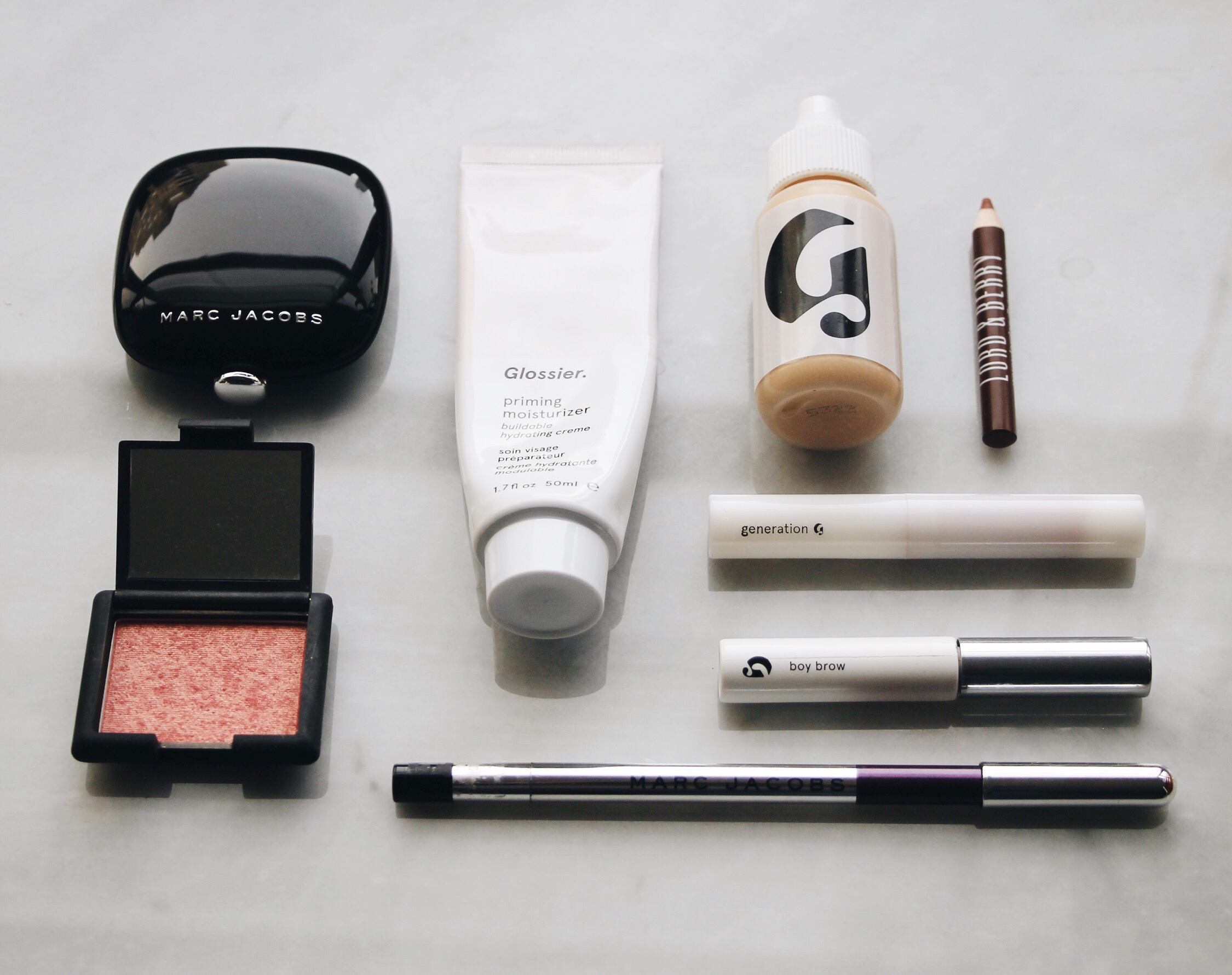 Best Makeup Products of 2016, Marc Jacobs, NARS, Glossier