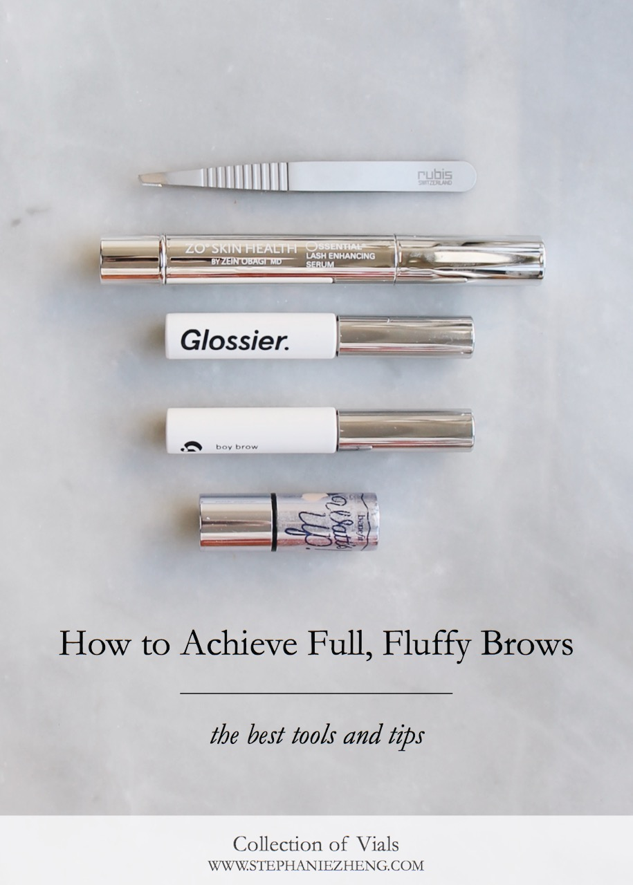 How to Achieve Full, Fluffy Brows, Full Brow Tutorial, How to get Full Brows, Glossier, Glossier Boy Brow, Rubis, Eyebrow Tutorial, Full Brow Tips