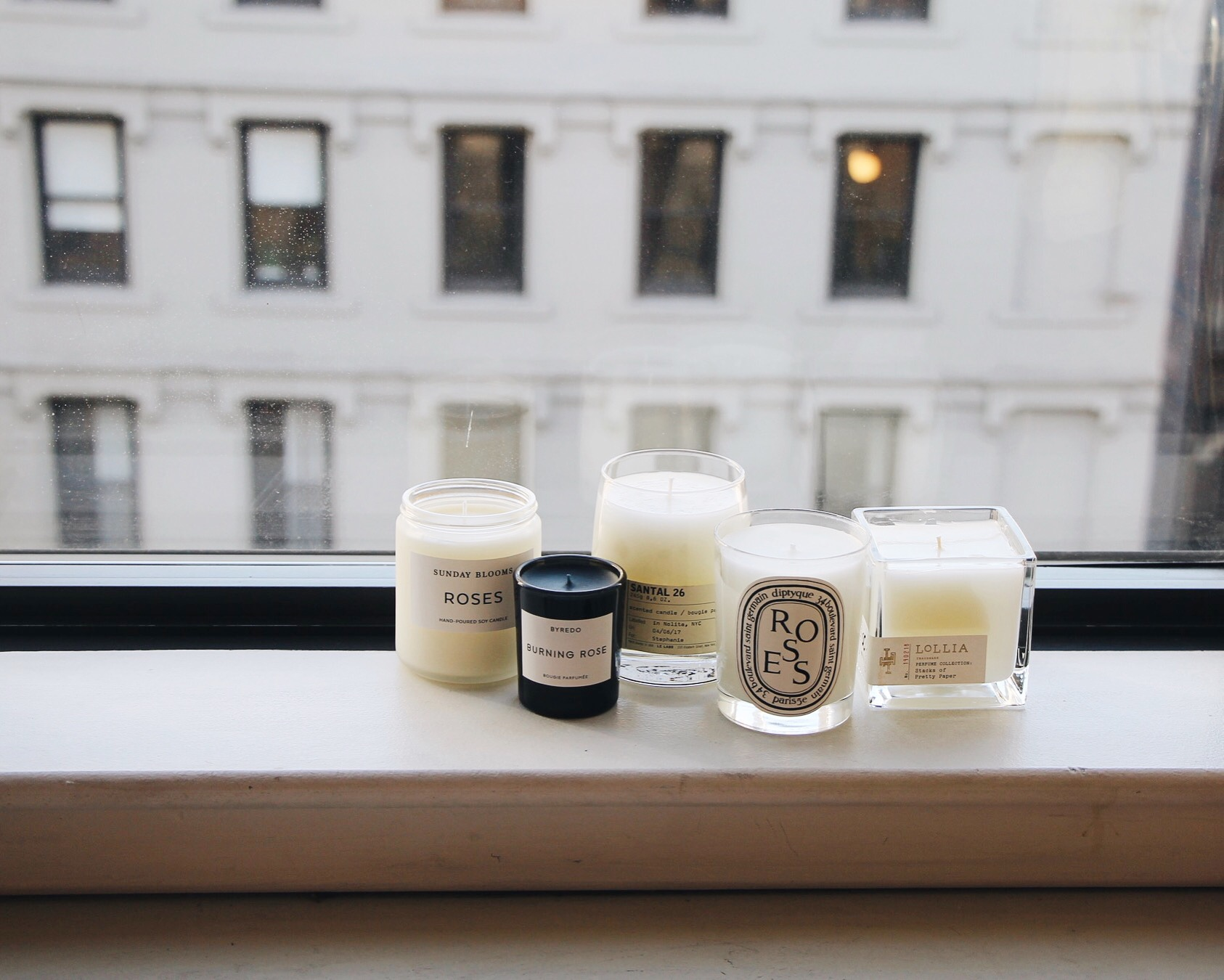 Best Scented Candles, Candle Edit, Best Candles For Home, Le Labo Candle, Byredo Candle, Diptyque Candle, Burning Rose, Sunday Blooms, Lollia, Favorite Candles