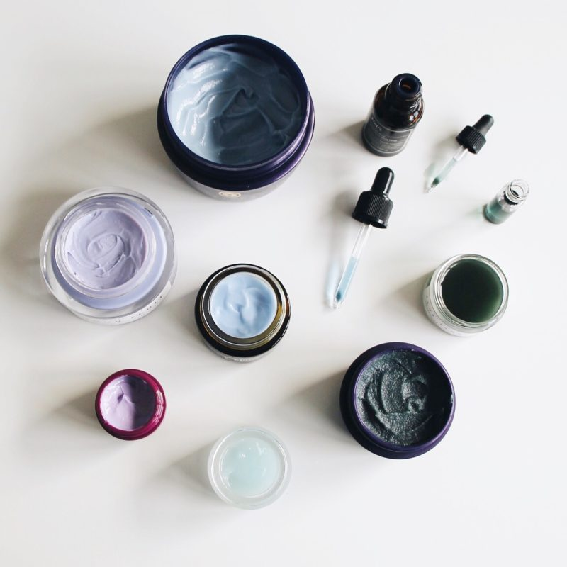 Naturally Blue & Purple Hued Skincare, Blue Skincare, Purple Skincare, Blue Tansy, Tatcha, Herbivore Botanicals, Omorovicza, Klairs, Klairs Blue Cream, Tatcha Radiance Mask, Tatcha Indigo Collection, Herbivore Moonfruit