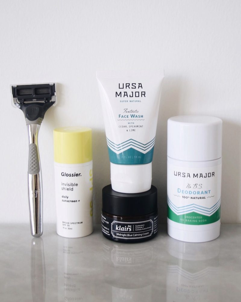 Five Unisex Beauty Products, Glossier, Invisible Shield, Ursa Major, Harry's