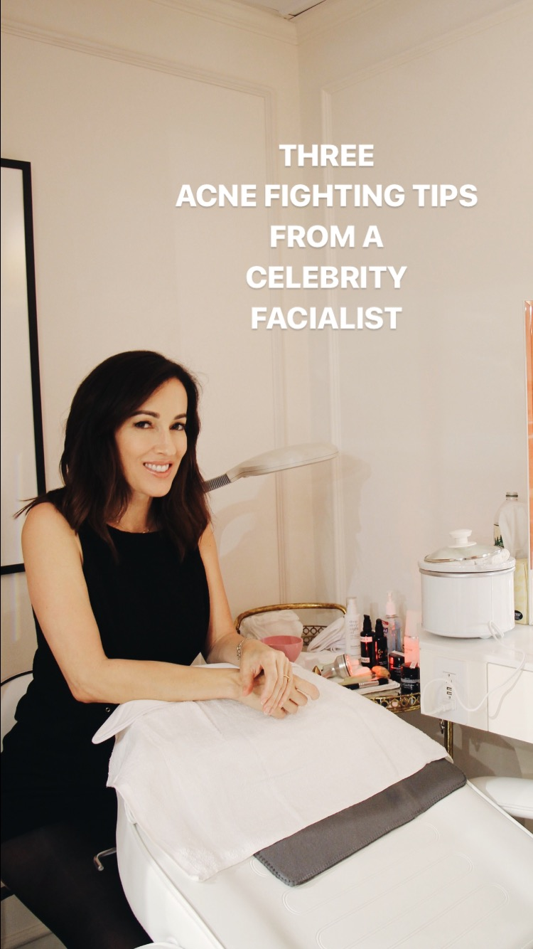 Angela Caglia, Angela Caglia Skincare, Violet Grey, Approved By The Violet Code, Celebrity Facialist, Celebrity Facialist Skincare Tips, Acne Fighting Tips, Acne Treatment Tips