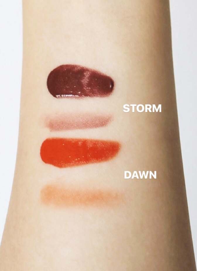 Glossier Cloud Paint Dawn Storm Swatches Shade Comparisons